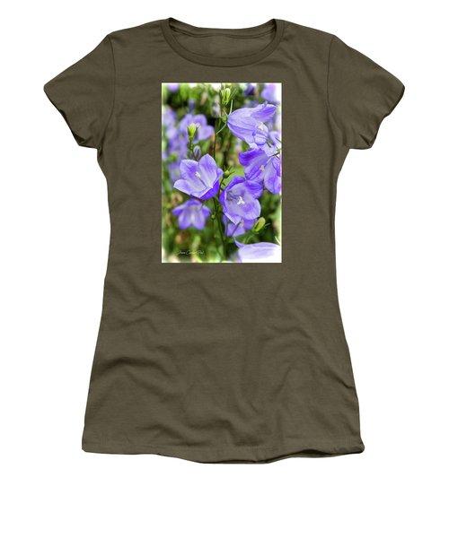 Purple Bell Flowers Women's T-Shirt (Junior Cut) by Joann Copeland-Paul