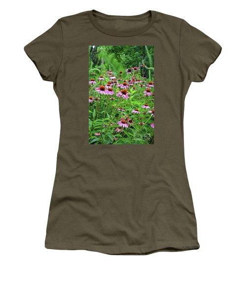 Purple Coneflower  Women's T-Shirt (Junior Cut) by Eva Kaufman