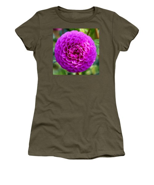 Purple Dahlia Women's T-Shirt (Athletic Fit)