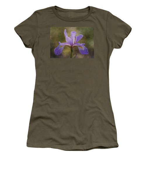 Women's T-Shirt featuring the photograph Purple Flag Iris by Patti Deters