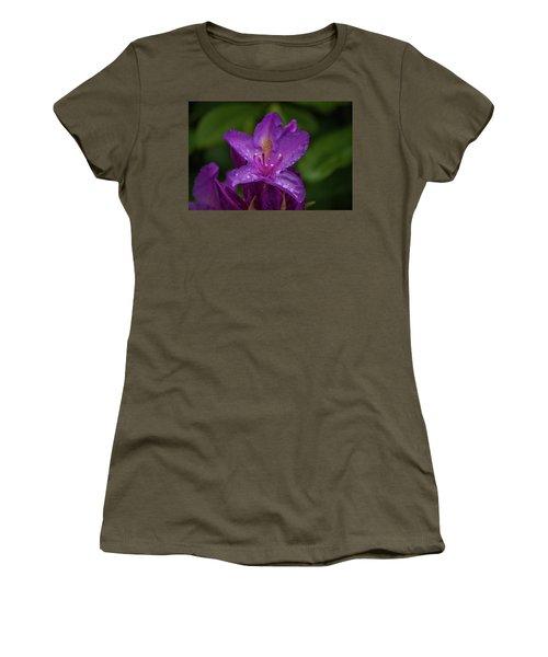 Purple Flower 7 Women's T-Shirt (Junior Cut) by Timothy Latta