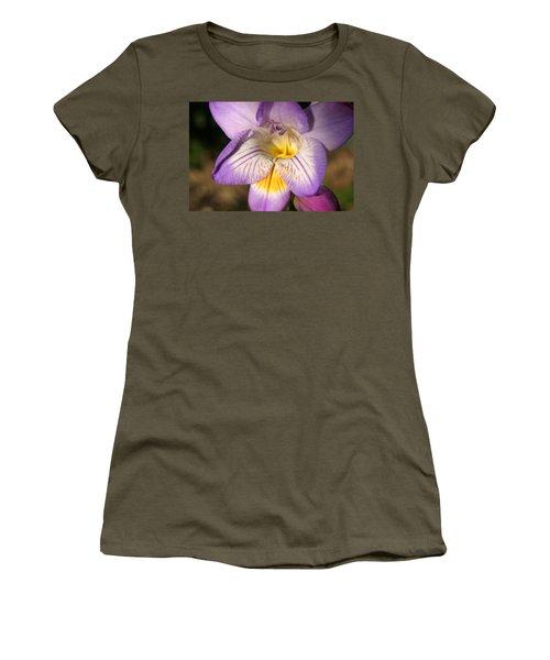 Purple Fresia Flower Women's T-Shirt (Junior Cut) by Ralph A  Ledergerber-Photography