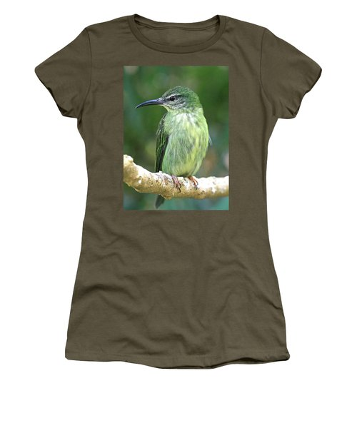 Purple Honeycreeper Female Women's T-Shirt (Athletic Fit)