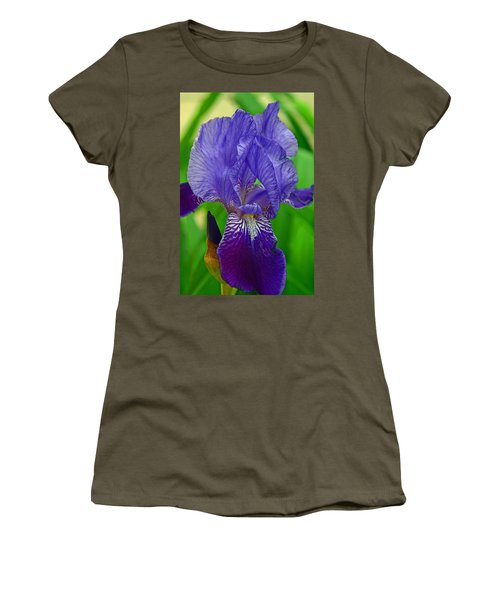 Purple Iris Women's T-Shirt (Junior Cut) by Lisa Phillips