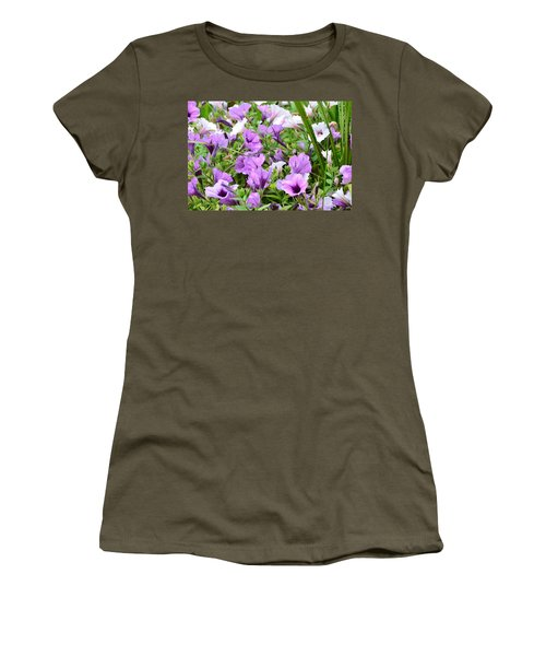 Purple Petunias Women's T-Shirt