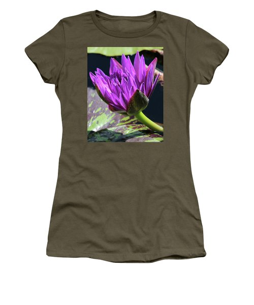 Purple Water Lily Women's T-Shirt