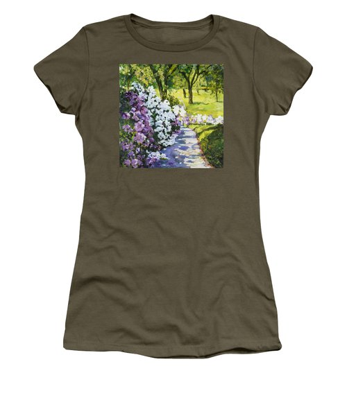 Purple White Women's T-Shirt
