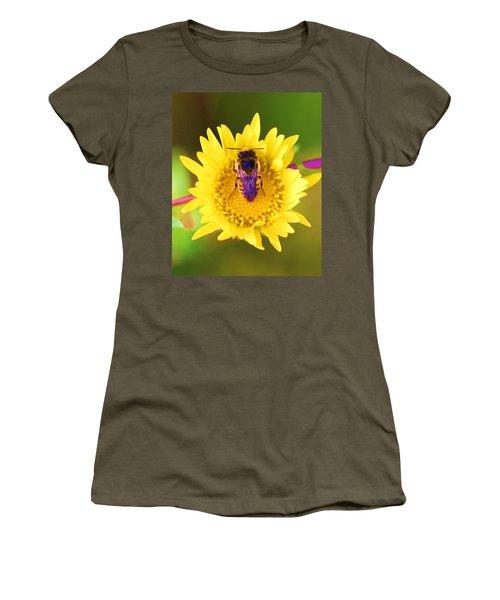 Purple Wings Women's T-Shirt (Junior Cut) by John King