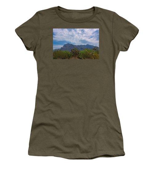 Women's T-Shirt (Athletic Fit) featuring the photograph Pusch Ridge Morning H26 by Mark Myhaver