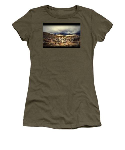 Push Women's T-Shirt (Junior Cut) by Mark Ross