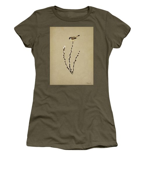 Pussy Willow And Chickadee Women's T-Shirt (Athletic Fit)