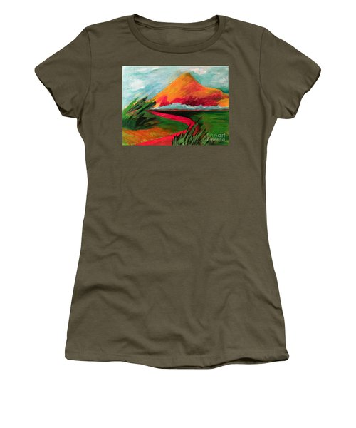 Pyramid Mountain Women's T-Shirt (Junior Cut) by Elizabeth Fontaine-Barr