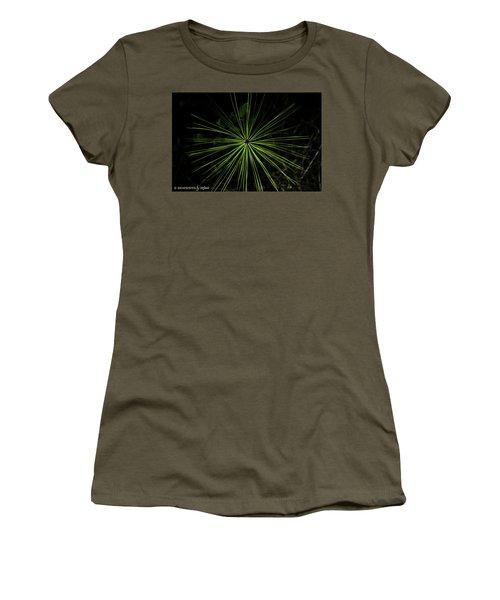 Pyrotechnics Or Pine Needles Women's T-Shirt (Junior Cut) by Stefanie Silva