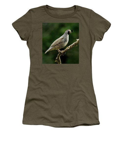 Quail  Women's T-Shirt (Athletic Fit)