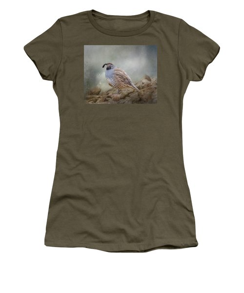 Quail On The Rocks Women's T-Shirt