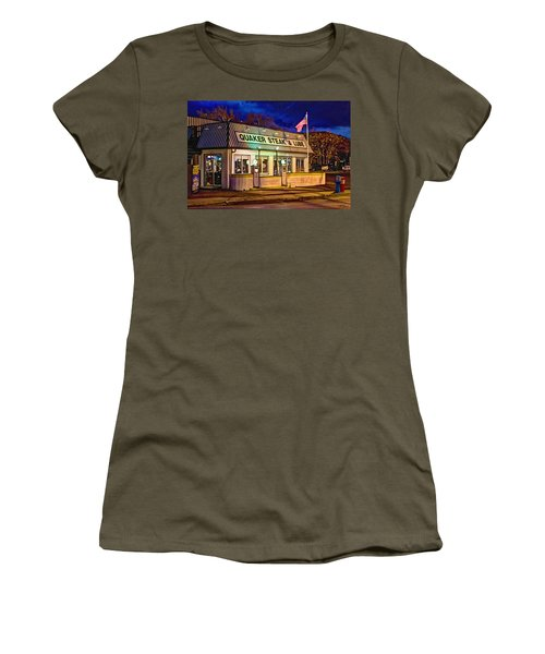 Quaker Steak And Lube Women's T-Shirt (Junior Cut) by Skip Tribby