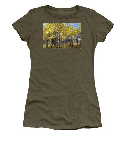 Women's T-Shirt (Junior Cut) featuring the photograph Quaking Aspens by Cynthia Powell