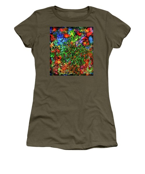 Women's T-Shirt (Athletic Fit) featuring the digital art Qualia's Christmas by Russell Kightley