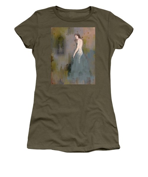 Women's T-Shirt (Junior Cut) featuring the digital art Queen by Lisa Noneman