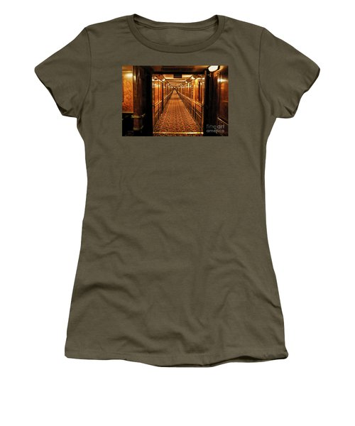 Women's T-Shirt (Junior Cut) featuring the photograph Queen Mary Hallway by Mariola Bitner