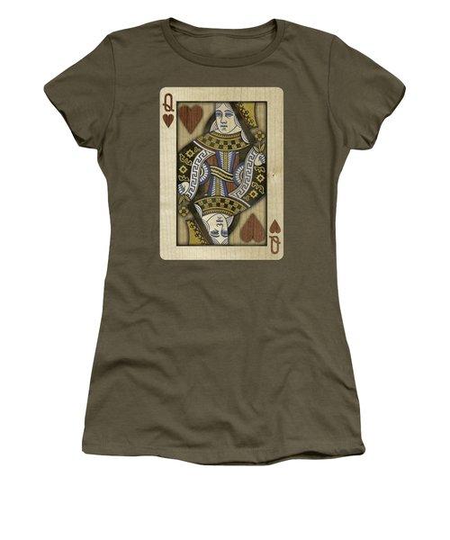 Queen Of Hearts In Wood Women's T-Shirt