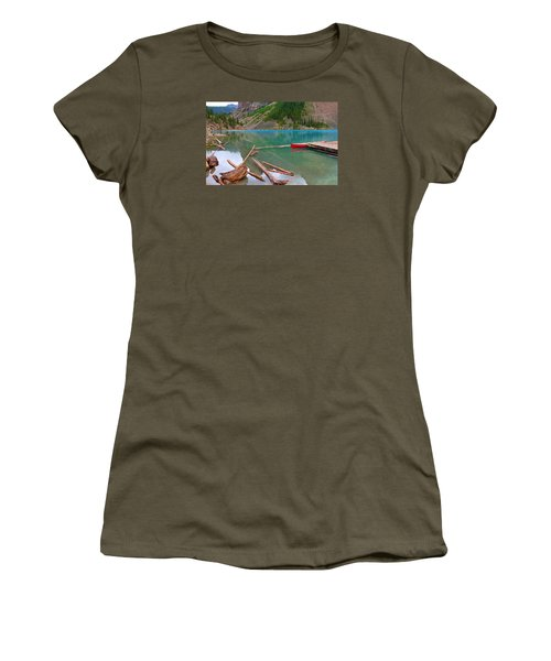 Moraine Lake I, Alberta Women's T-Shirt (Athletic Fit)