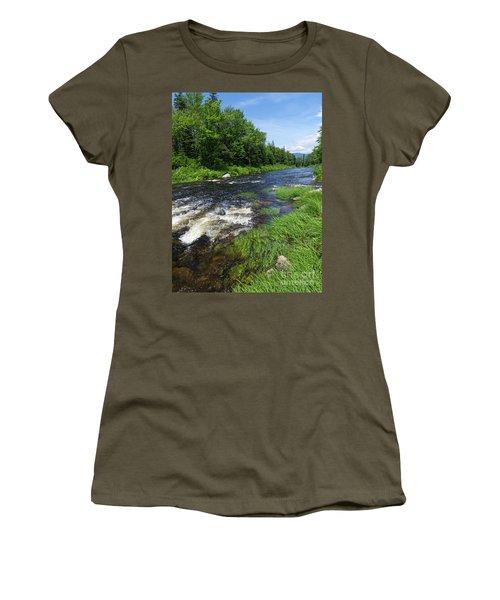 Quill Pond Brook Near Rangeley Maine  -70748 Women's T-Shirt
