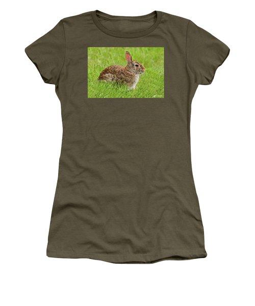 Rabbit In A Grassy Meadow Women's T-Shirt
