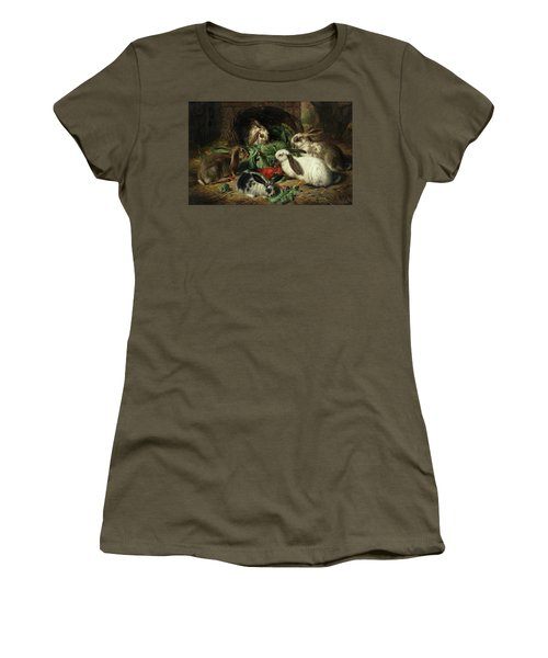 Rabbits Women's T-Shirt (Athletic Fit)