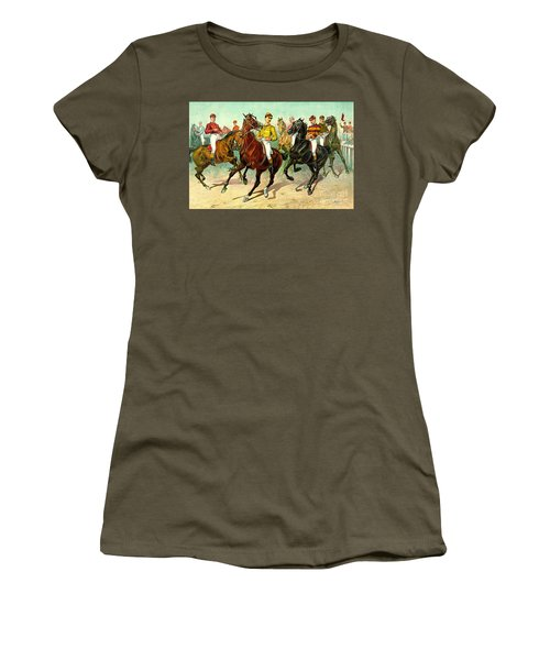 Racehorses 1893 Women's T-Shirt (Athletic Fit)