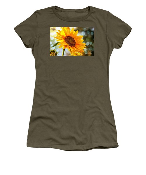 Radiant Yellow Sunflower Women's T-Shirt (Athletic Fit)