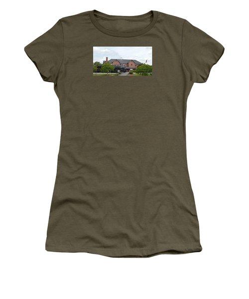 Railroad Depot Women's T-Shirt (Junior Cut) by Linda Geiger