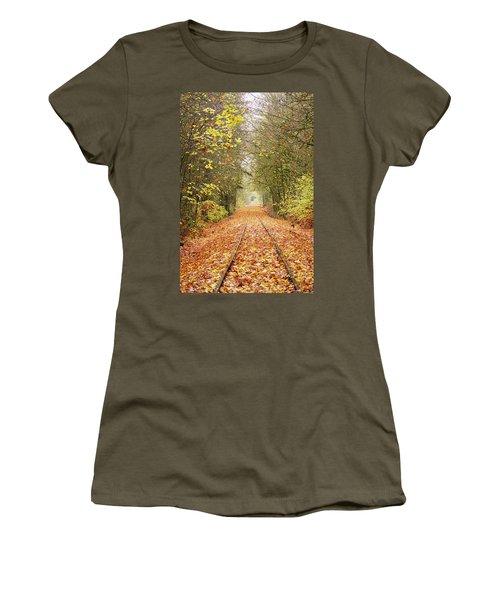 Railroad Tracks Women's T-Shirt (Athletic Fit)