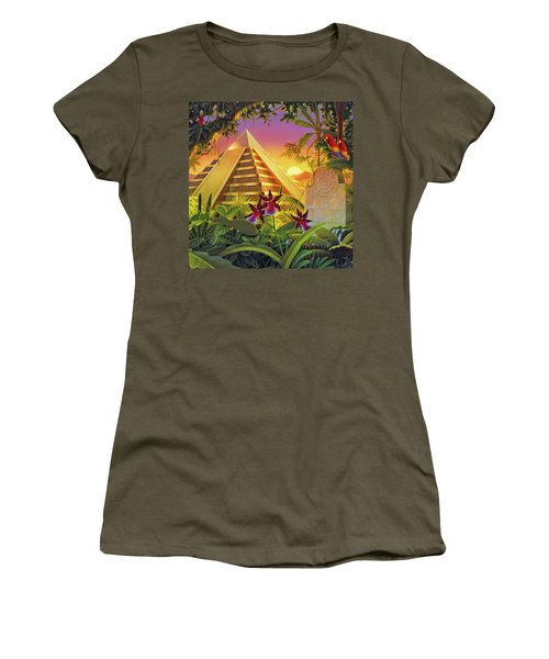 Rain Forest Pyramid  Women's T-Shirt (Athletic Fit)