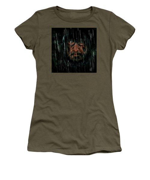 Women's T-Shirt (Junior Cut) featuring the painting Rain Nor Sleet Nor Snow by Jim Vance