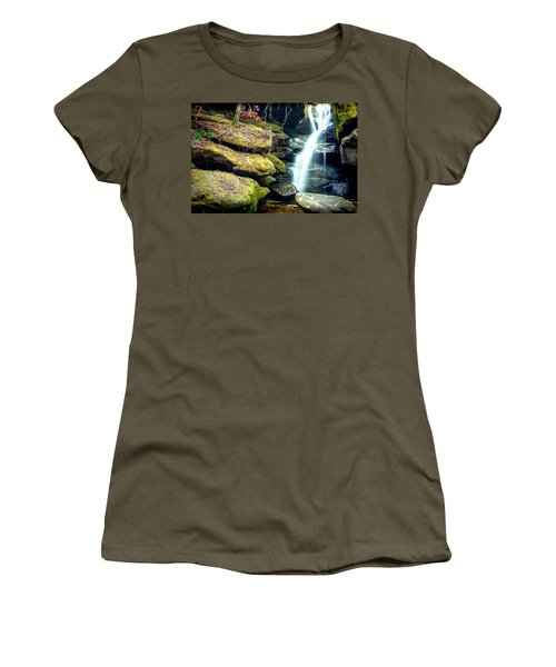 Women's T-Shirt (Junior Cut) featuring the photograph Rainbow Falls At Dismals Canyon by David Morefield