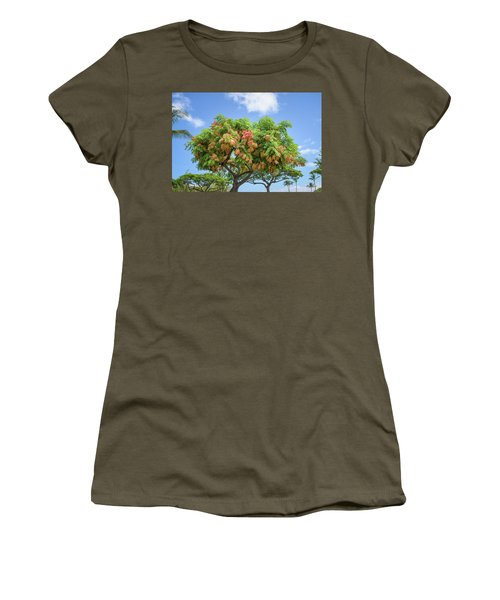 Women's T-Shirt featuring the photograph Rainbow Shower Tree 1 by Jim Thompson