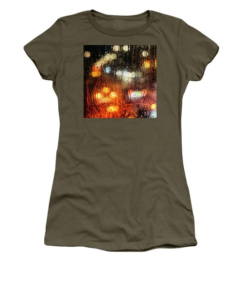 Raindrops On Street Window Women's T-Shirt