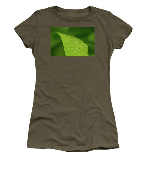 Women's T-Shirt (Athletic Fit) featuring the photograph Rainfall by SR Green