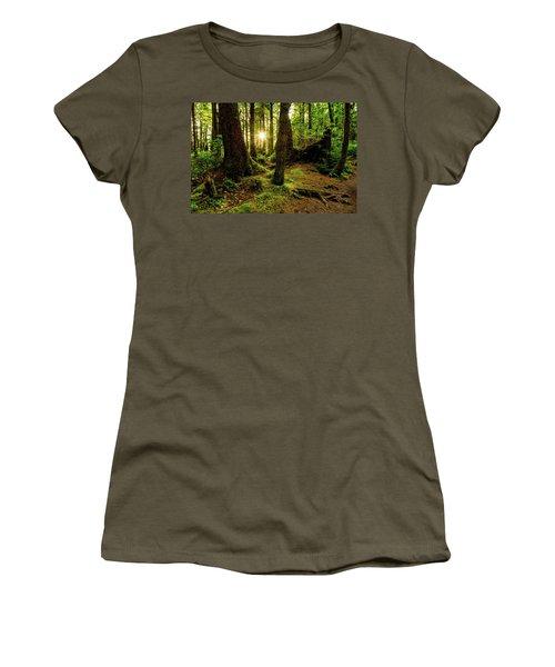 Rainforest Path Women's T-Shirt (Junior Cut) by Chad Dutson