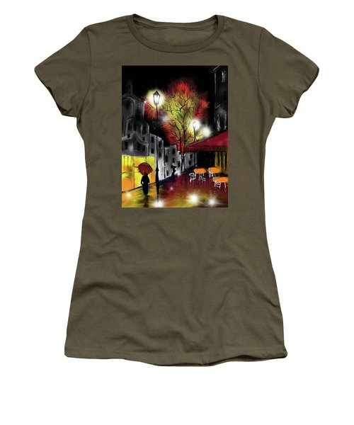 Raining And Color Women's T-Shirt (Athletic Fit)