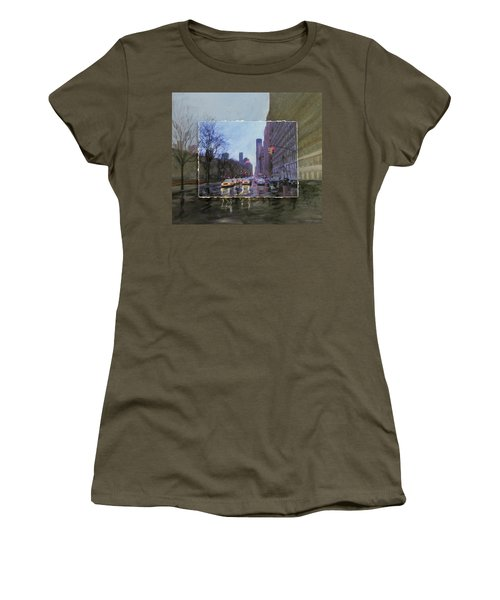 Rainy City Street Layered Women's T-Shirt
