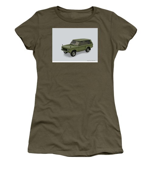 Women's T-Shirt (Junior Cut) featuring the mixed media Range Rover Classical 1970 by TortureLord Art