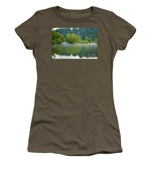 Women's T-Shirt (Athletic Fit) featuring the photograph Rankin Reflections by Douglas Stucky