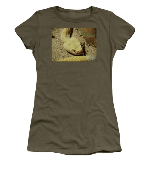 Rattlesnake Closeup Women's T-Shirt (Athletic Fit)