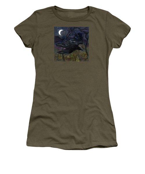 Raven In Stars Women's T-Shirt (Junior Cut) by FT McKinstry