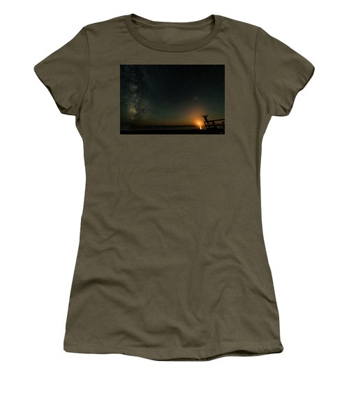 Women's T-Shirt featuring the photograph Reach For The Stars by Doug Gibbons