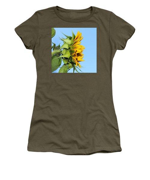 Reaching Sunflower Women's T-Shirt (Athletic Fit)