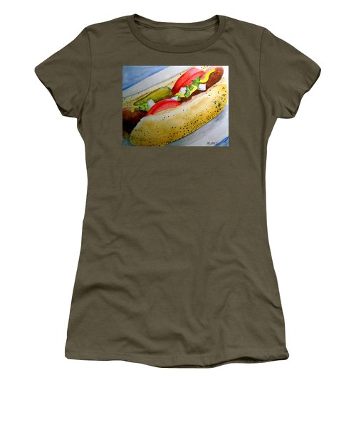 Real Deal Chicago Dog Women's T-Shirt (Athletic Fit)