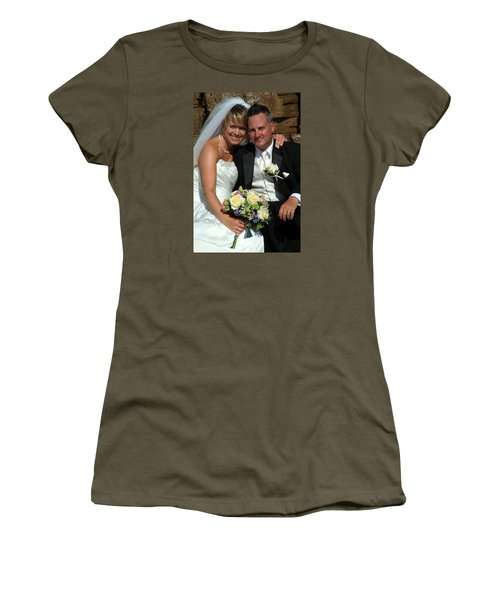 Women's T-Shirt (Junior Cut) featuring the photograph Rebecca And David by Michael Dorn